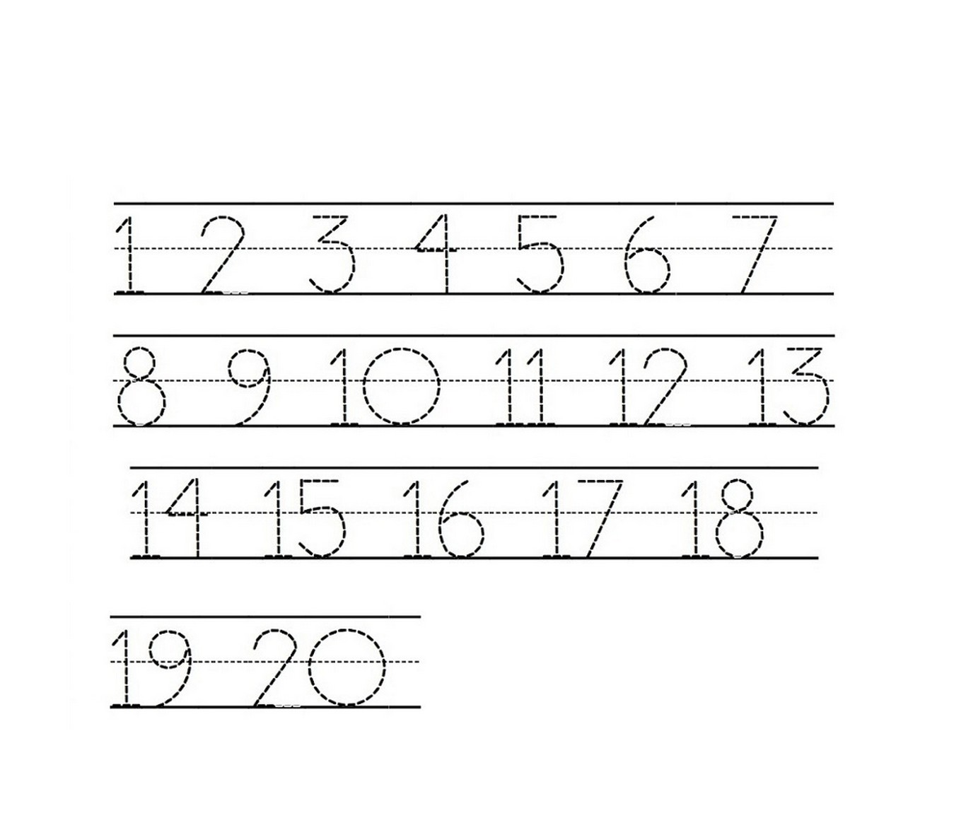 Printable Tracing Numbers That Are Current