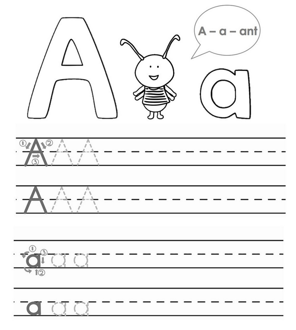 Tracing A B C For Kids Learning Printable