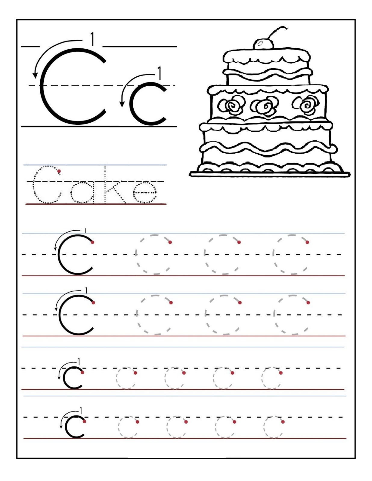 Learning To Write Worksheets Tracing