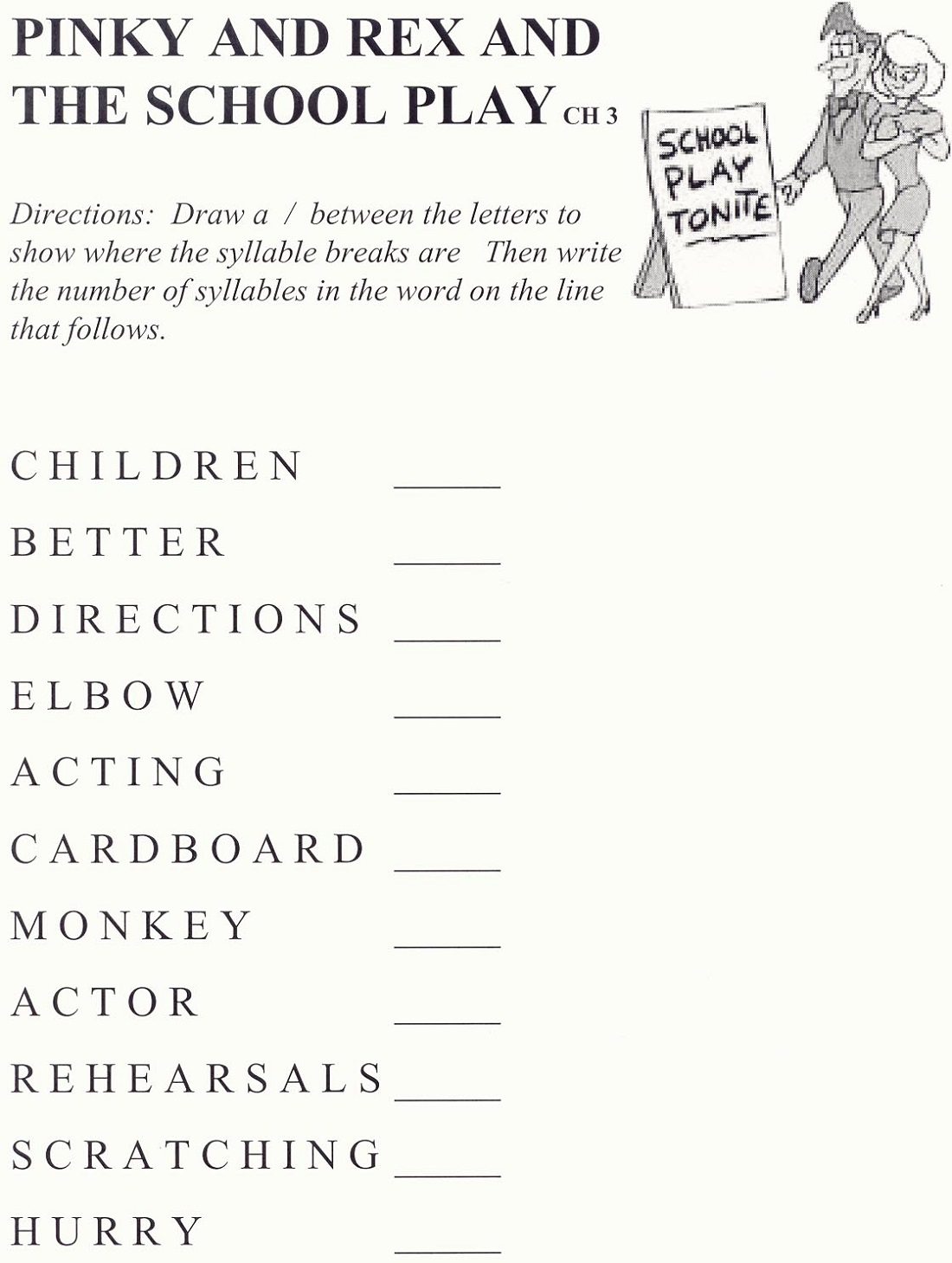 K12 Learning Worksheet