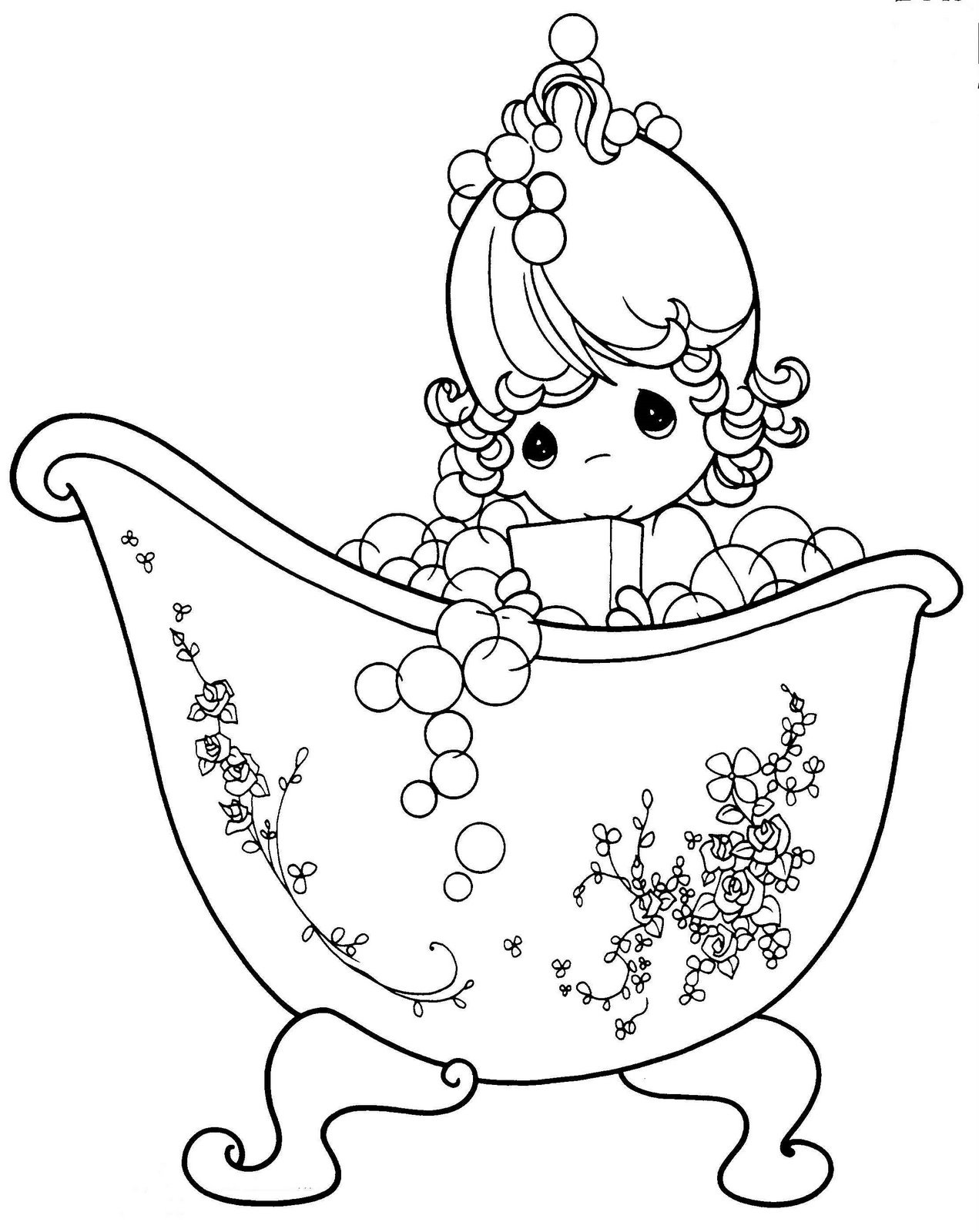 Cute Precious Moments Coloring Pages To Print