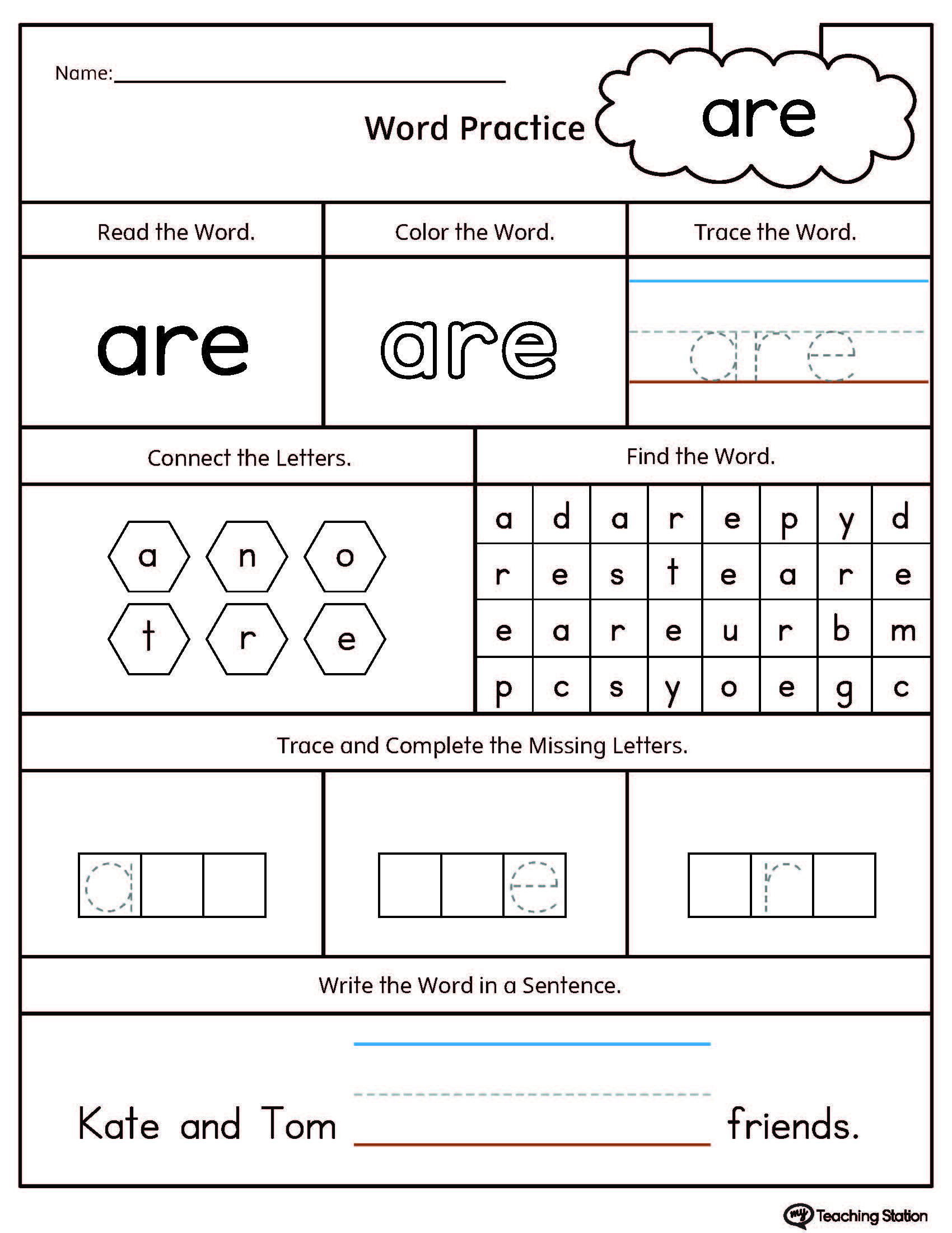 Preschool Printable Worksheets