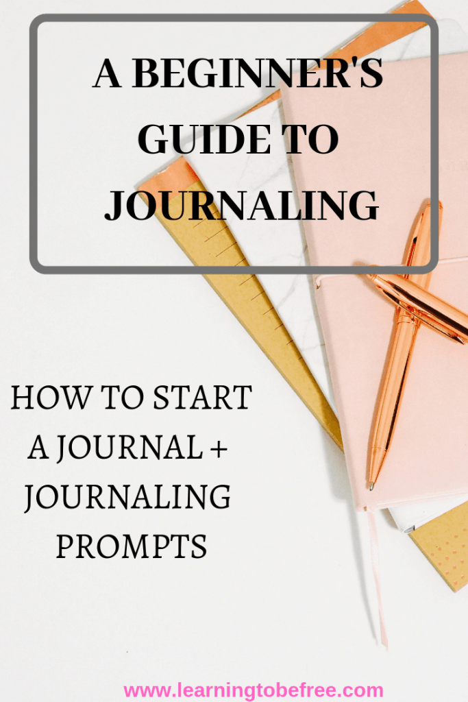 Picture of multiple journals with text that says How to Start a Journal
