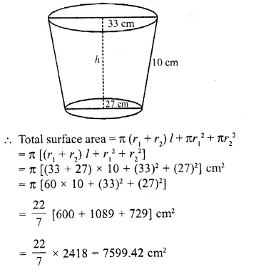RD Sharma Class 10 Solutions Chapter 14 Surface Areas and VolumesEx 14.3 19