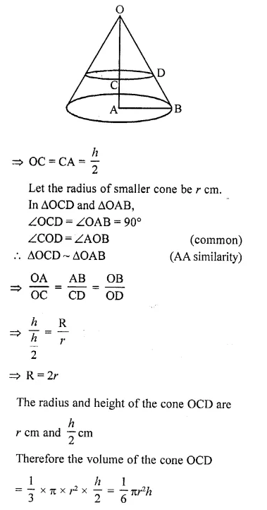 RD Sharma Class 10 Solutions Chapter 14 Surface Areas and VolumesEx 14.3 28