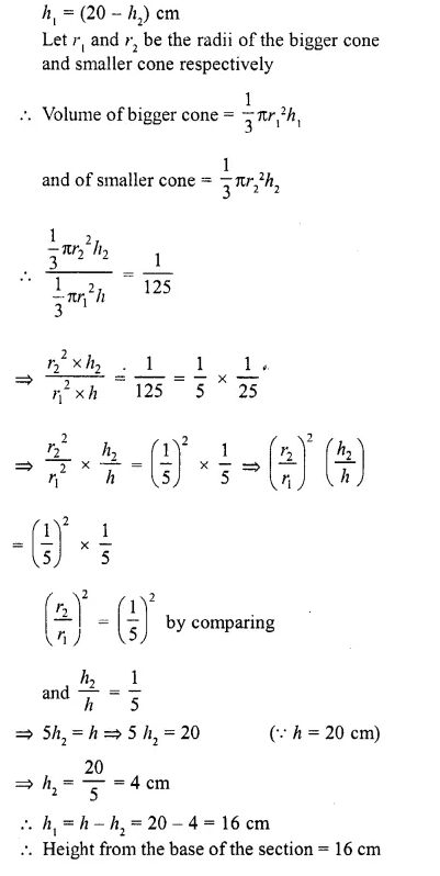 RD Sharma Class 10 Solutions Chapter 14 Surface Areas and VolumesEx 14.3 9