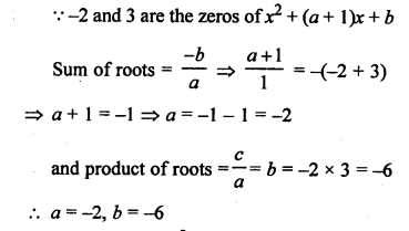 RS Aggarwal Class 10 Solutions Chapter 2 Polynomials MCQS 7