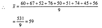 Selina Concise Mathematics Class 10 ICSE Solutions Chapter 24 Measures of Central Tendency Ex 24A Q2.1