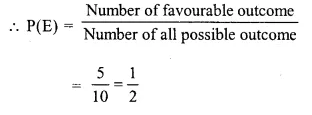 Selina Concise Mathematics Class 10 ICSE Solutions Chapter 25 Probability Ex 25A Q2.5