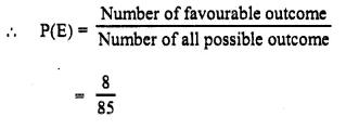 Selina Concise Mathematics Class 10 ICSE Solutions Chapter 25 Probability Ex 25B Q5.1