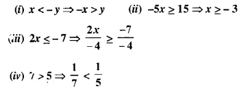 Selina Concise Mathematics Class 10 ICSE Solutions Chapter 4 Linear Inequations Ex 4A 1.1
