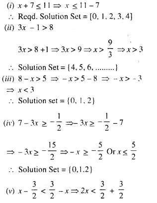 Selina Concise Mathematics Class 10 ICSE Solutions Chapter 4 Linear Inequations Ex 4A 4.1