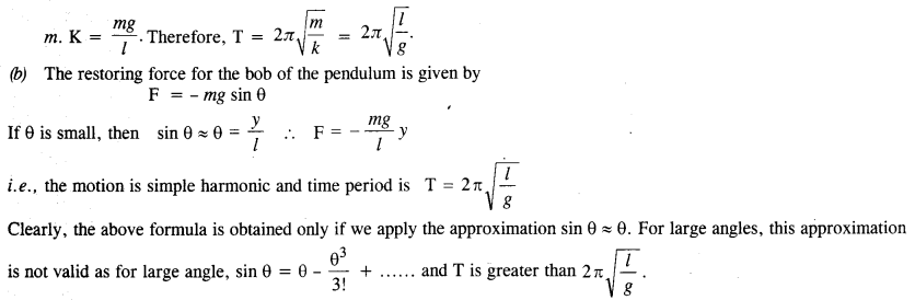 NCERT Solutions for Class 11 Physics Chapter 14 Oscillations 20
