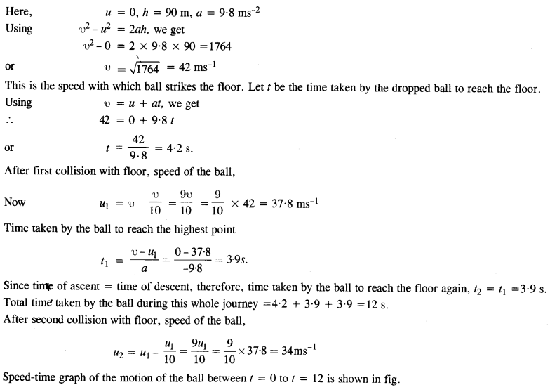 NCERT Solutions for Class 11 Physics Chapter 3 Motion in a Straight Line 9