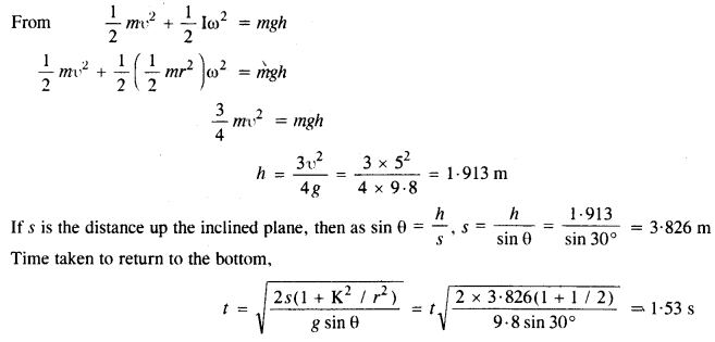 NCERT Solutions for Class 11 Physics Chapter 7 System of Particles and Rotational Motion 30