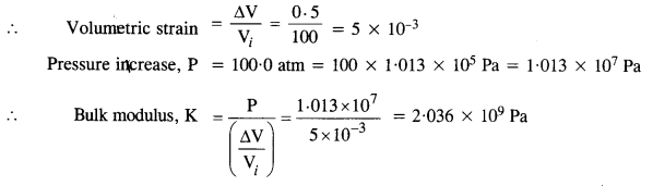 NCERT Solutions for Class 11 Physics Chapter 9 Mechanical Properties of Solids 14