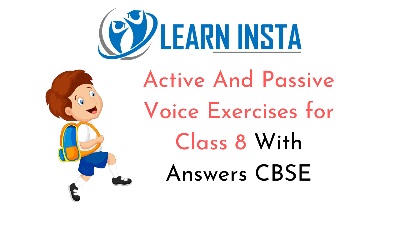 Active And Passive Voice Exercises for Class 8