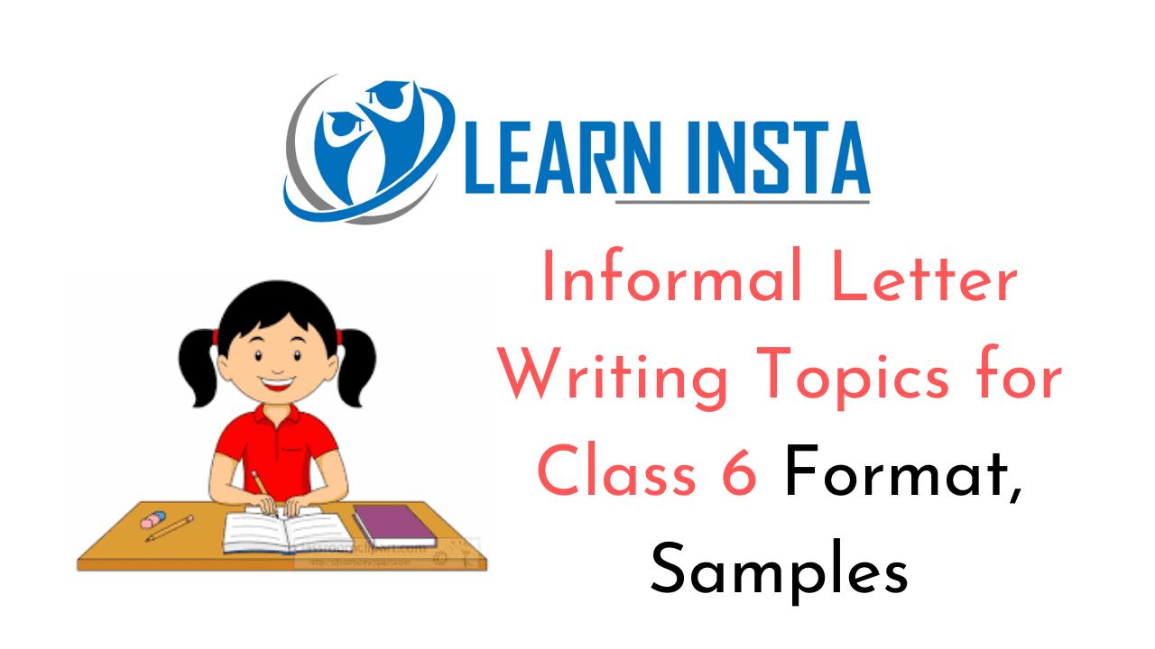 informal letter writing topics for