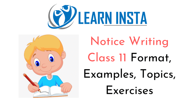 Notice Writing Class 25 Format, Examples, Topics, Exercises