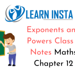 Exponents and Powers Class 8 Notes
