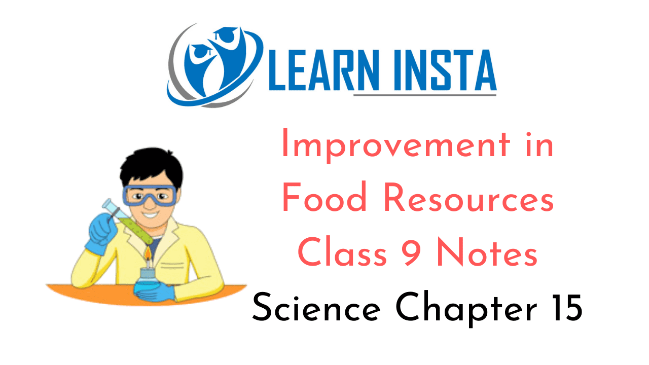 Improvement in Food Resources Class 9 Notes