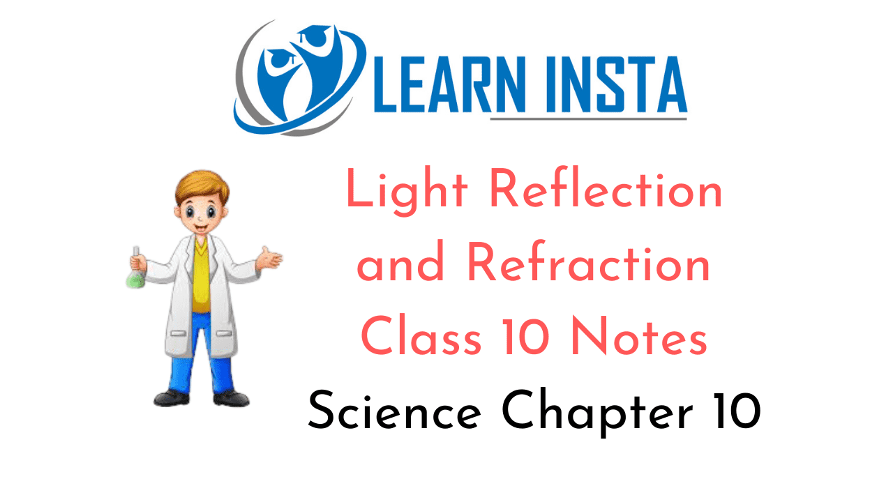 Light Reflection and Refraction Class 10 Notes
