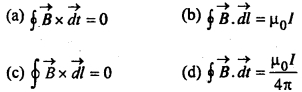 MCQ Questions for Class 12 Physics Chapter 4 Moving Charges and Magnetism with Answers