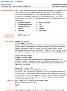 plumber resume objectives for nurse practitioner resume example - Plumber Resume Sample