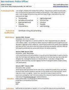 police officer cv example learnist org