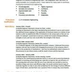 Graduate Engineer CV Example