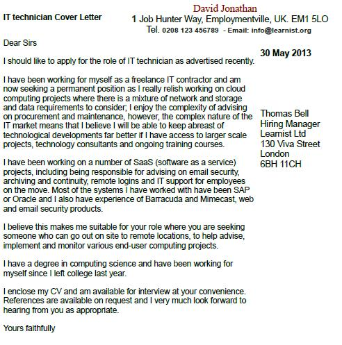 Cover letter template uk email