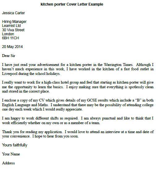 Porter Job Resume Sample. Best Server Resume Cover Letter Best