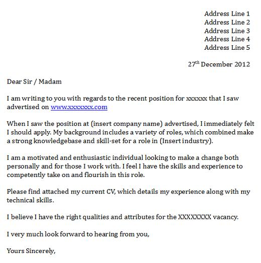 Targeted Cover Letter Template | Resume Format Download Pdf