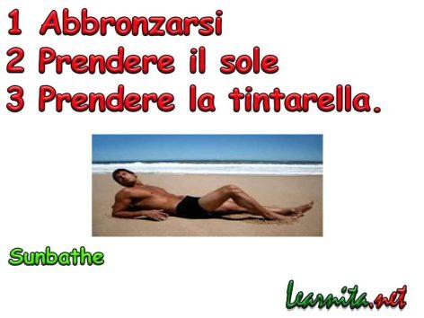 take the sun in italian