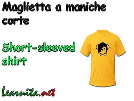 T shirt in italian
