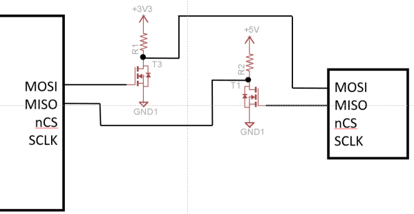 basic voltage translation for SPI