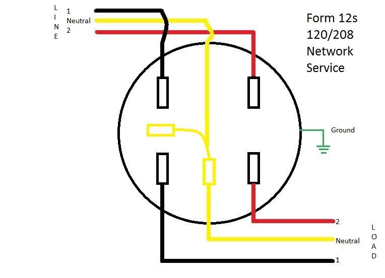 form 12s meter wiring diagram learn metering. Black Bedroom Furniture Sets. Home Design Ideas