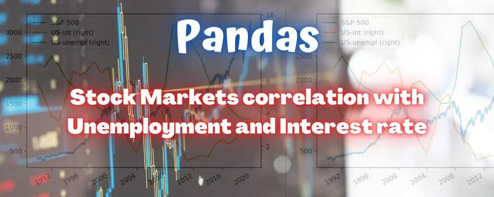 Pandas: Does Stock Market Correlate to Unemployment Rate or Bank Interest Rate? - Learn Python with Rune