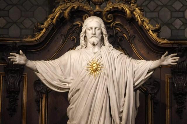 Sacred Heart Statue, Saint-Sulpice, Paris