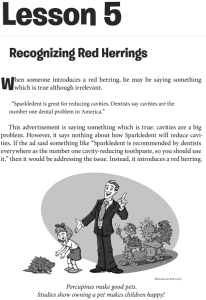 Page from The Fallacy Detective discussing the Red Herring fallacy