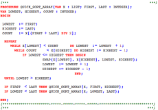 Quick sort source code