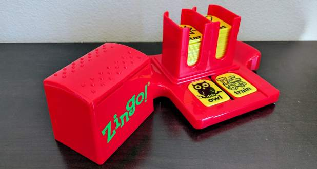 Zingo tile sorter with tiles inside