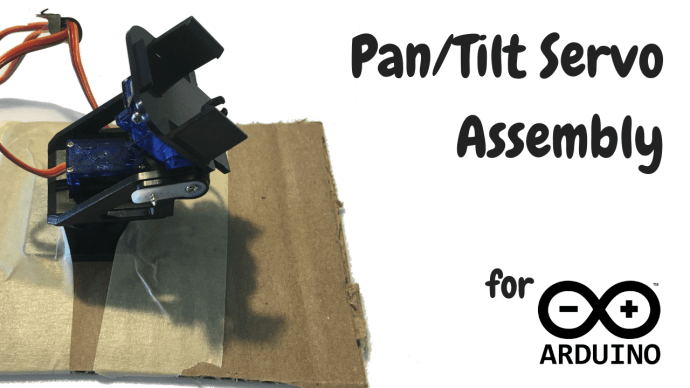how to assemble pan/tilt for Arduino servos