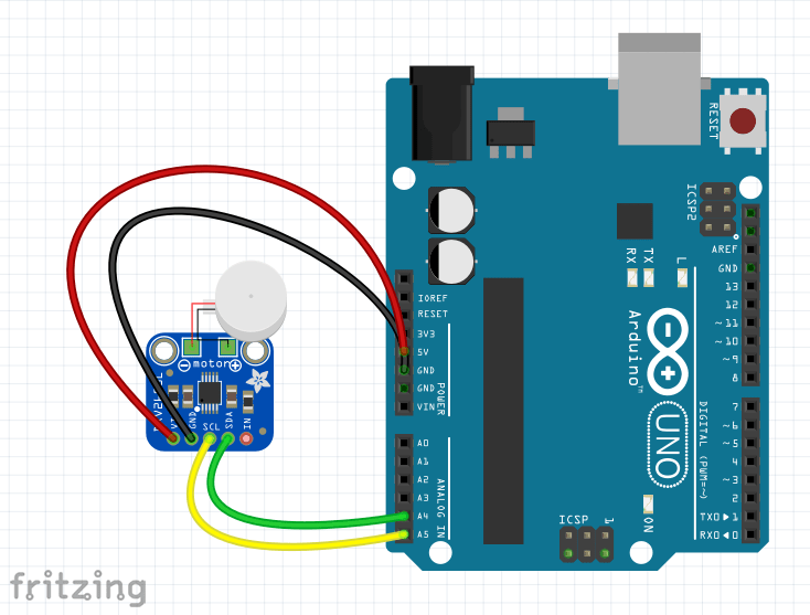 example circuit Fritzing