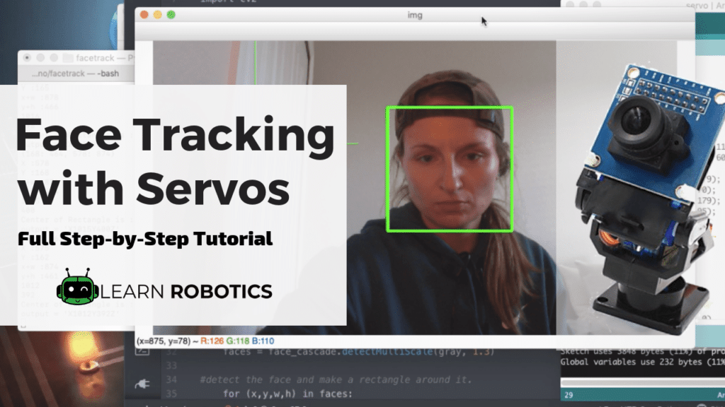 Face Tracking OpenCV, Python, & Arduino