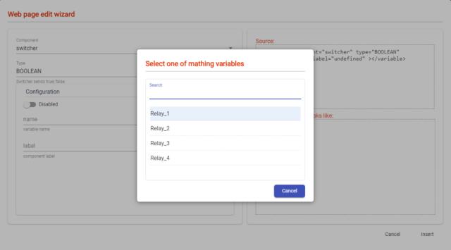button for web app