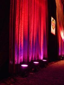LED moving lights on drape