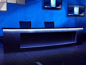 LED tape on desk