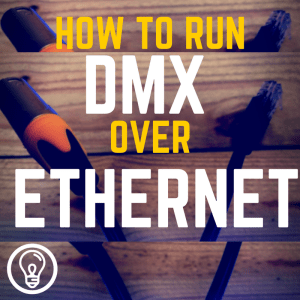 "how do i run dmx over ""ethernet"" cable?"