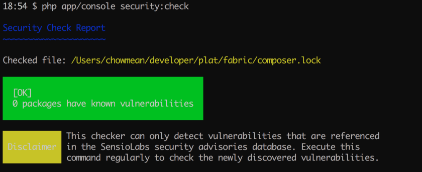 Composer dependency vulnerability
